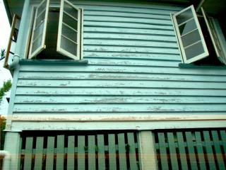 Before - External repaint of flakey weatherboards in Moorooka, QLD