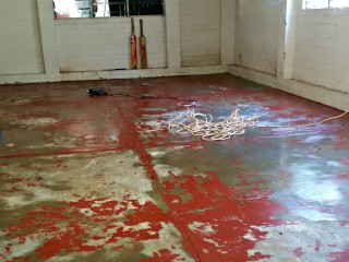Before - Garage floor repaint in Aspley, QLD