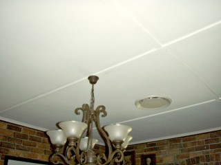 After - Repaint of paneled ceiling in Graceville, QLD - Client was thrilled with the result!