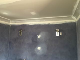 Before - Suede wall @ Barrack Heights, NSW